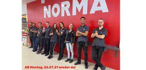 NORMA in Hilden kurz vor der Wiedereröffnung