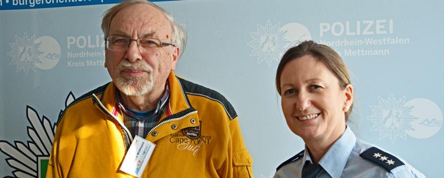Neue Seniorenberater bei der Kreispolizei Mettmann