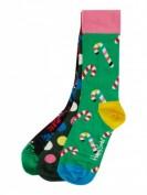 Happy Socks  Socken im 3er-Pack in Geschenkbox - Grün