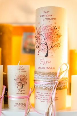KerzenwachsTante Langenfeld steht für individuell gestaltete Kerzen