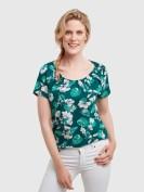 Carmenshirt im floralen Design in Bunt