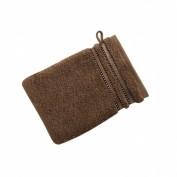 VOSSEN Waschhandschuh nut brown