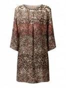 Malvin  Kleid aus Viskose mit Ziersteinbesatz  - Khaki