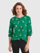 Bluse im floralen Design in Grün
