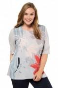 Shirtbluse, Blütenmuster, Classic, Glitzersteinchen