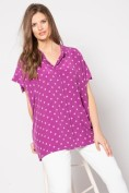 Bluse, Polka Dots, oversized, Halbarm, selection