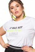 T-Shirt, Statement-Print, Gummi-Print, Halber Arm