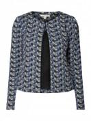 Esprit  Jerseyblazer mit abstraktem Muster - Marineblau
