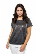 T-Shirt, Metallic-Druck, Gummisaum, Ausbrennerjersey