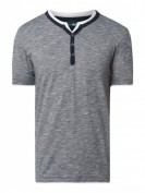 Esprit  Serafino-Shirt aus Organic Cotton - Marineblau