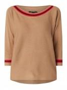 comma  Pullover mit überschnittenen Schultern - Camel
