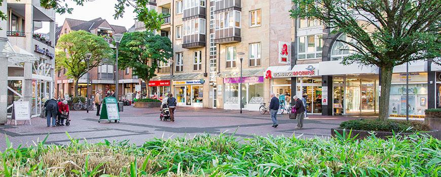 Einkaufen in Hilden: Der Warrington Platz