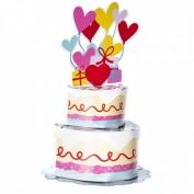 3D Geburtstagkarte Torte, Ballon