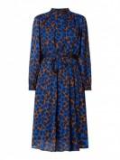 Selected Femme  Kleid mit Allover-Muster  - Royalblau