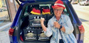 Bei jedem Deutschland Spiel warten 3 Kästen Bier auf Euch