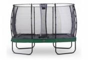 EXIT Trampolin Elegant Premium 214x366cm mit Sicherheitsnetz Economy Grün