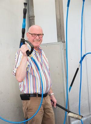 Joachim Jäckel vom Waschpark Rheinland Hilden und Langenfeld