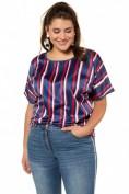 Shirt, Streifen-Satin, oversized, Halbarm