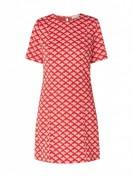 Calvin Klein Puff Mini Dress -  Kleid mit Allover-Muster  - Rot