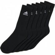 ADIDAS Herren 3-Streifen Crew Socken, 6 Paar