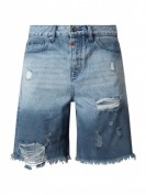 Tigha  Straight Fit Jeansshorts aus Baumwolle Modell 'Mex' - Jeans