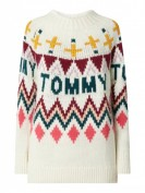 Tommy Jeans Tjw Tommy Fairis -  Pullover mit Norweger-Dessin - Weiß
