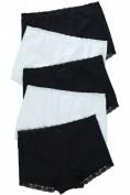 Pantys, 5er-Pack, schwarz / weiß