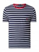 Polo Ralph Lauren  Custom Slim Fit T-Shirt mit Streifenmuster - Marineblau