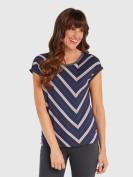 T-Shirt mit Streifen in Blau
