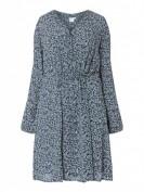 Junarose  PLUS SIZE Kleid aus Viskosekrepp  - Dunkelblau