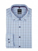 OLYMP  Regular Fit Business-Hemd aus Baumwolle mit extra kurzem Arm - Hellblau