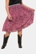 Plissee-Rock, Zebra-Print, silberner Stretch-Bund