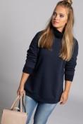 Sweatshirt, gestrickter Stehkragen, Langarm