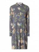 Esprit  Blusenkleid mit floralem Muster  - Dunkelgrau