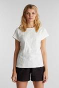 Shirt mit toniger Stickerei, 100% Organic Cotton