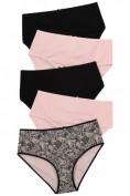 Slips, 5er-Pack, Spitze/ rosa/ schwarz, bis Gr. 74/76