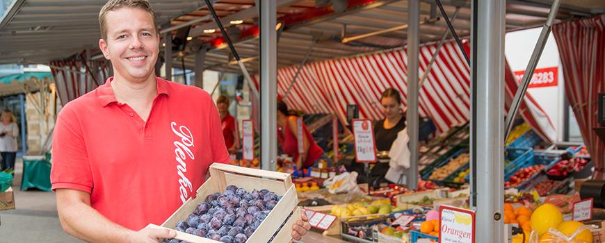 Wochenmarkt Hilden: Jetzt ist Pflaumenzeit