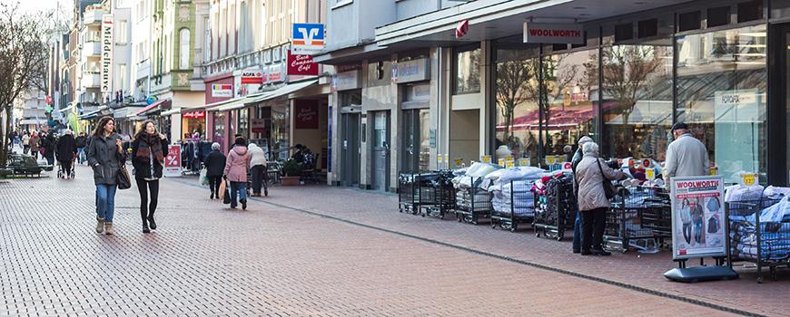 Einkaufen in Opladen: Kölner Straße (Fußgängerzone)