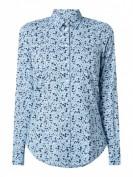 Gant  Bluse mit Allover-Muster  - Blau