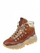 Marc Cain Bags & Shoes  Lederboots mit Metallic-Details - Cognac