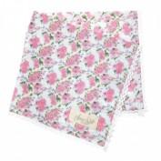 Serviette Anne, Blume klein, mint/rosa, 40 cm