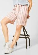 Lockere Shorts mit Streifen - light alabaster white